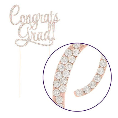 Congrats Grad Cake Topper - Rose Gold