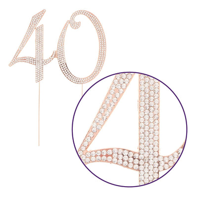 40 Cake Topper - Rose Gold
