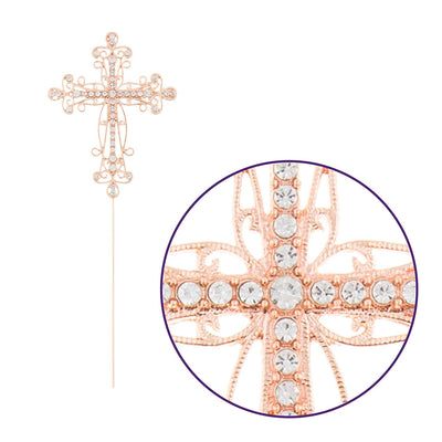 Cross Cake Topper - Rose Gold