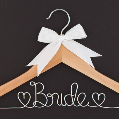 Bride Wedding Dress Hanger - Natural