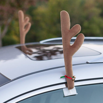 Car Reindeer Antlers & Red Nose Set