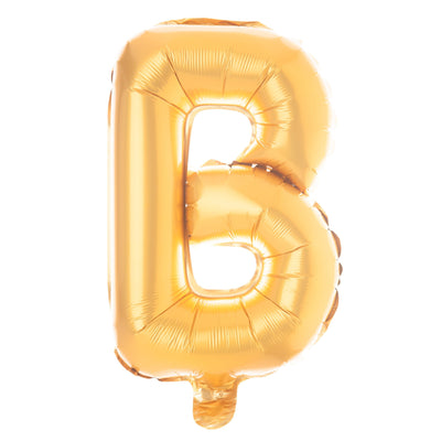 BRIDE Non-Floating Letter Balloons - 13 Inch Gold