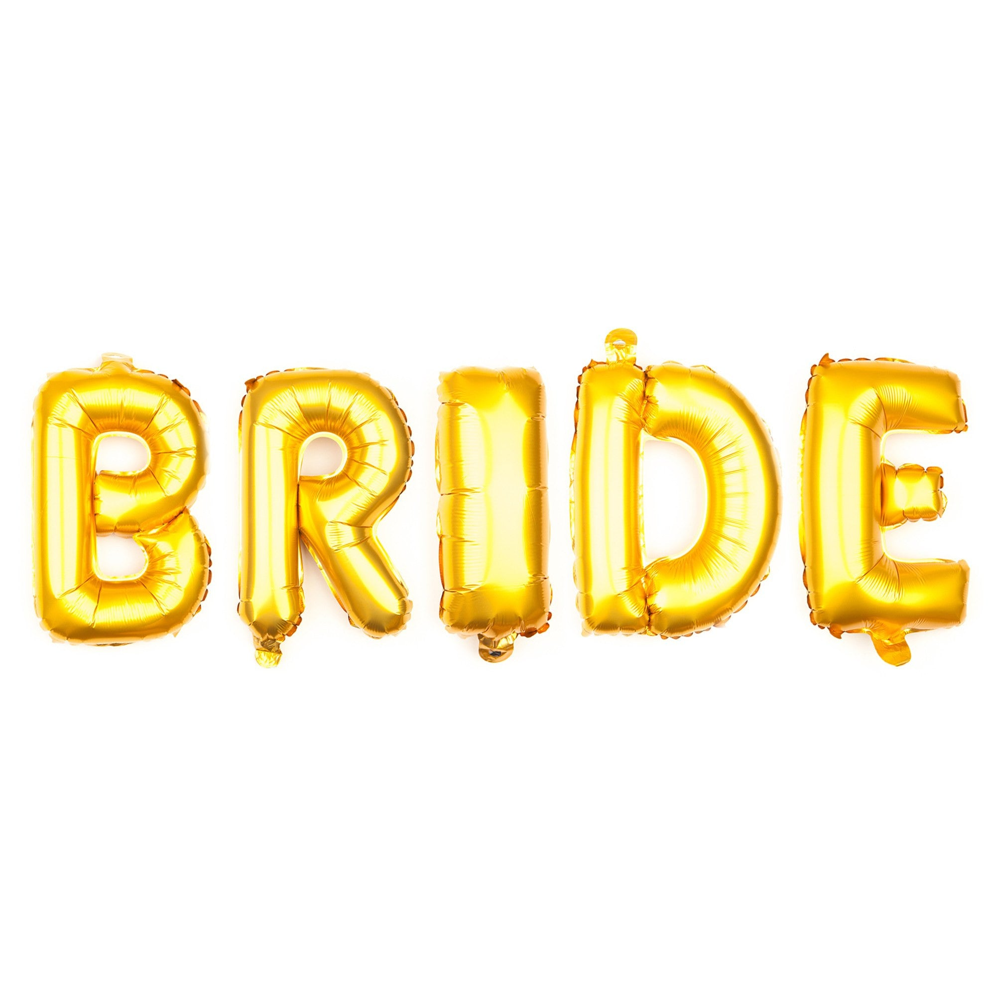 Balloons & Banners - Bride Letter Balloons 16 Inch - Gold