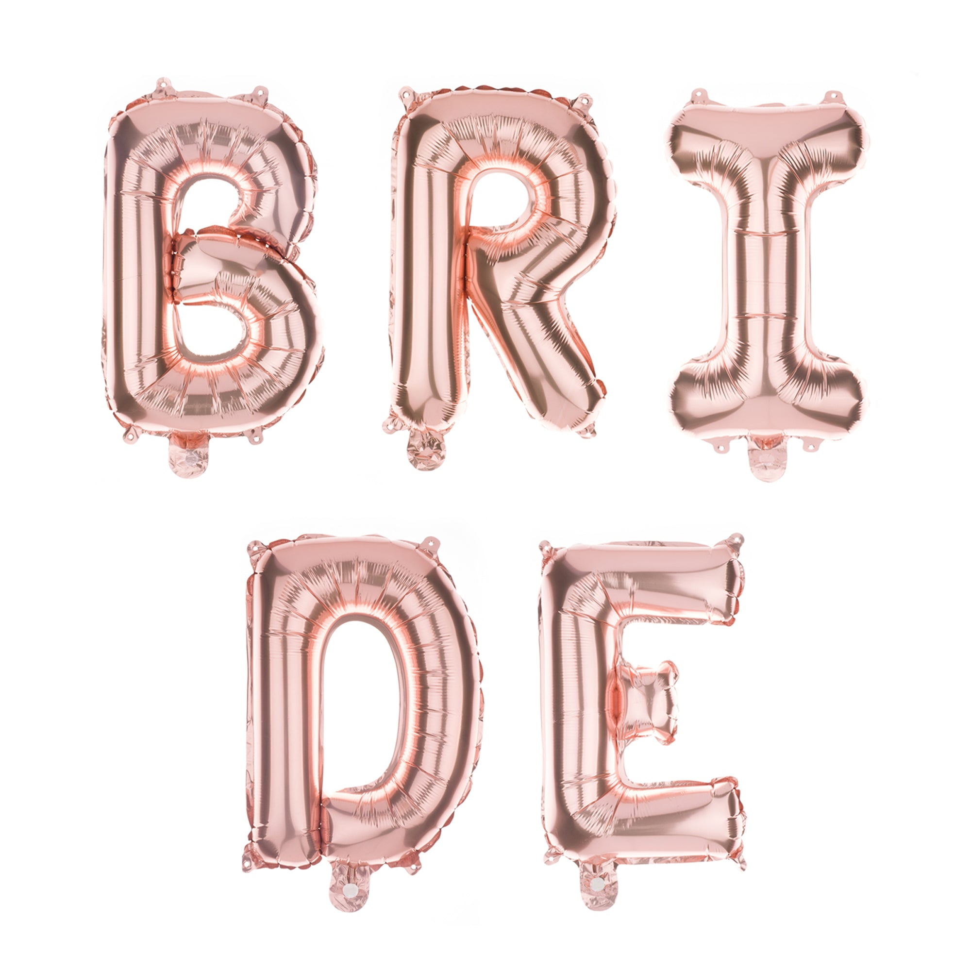 BRIDE Letter Balloons - 35 Inch Rose Gold