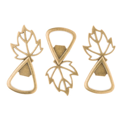 50 Fall Leaf Bottle Openers - Antique Gold
