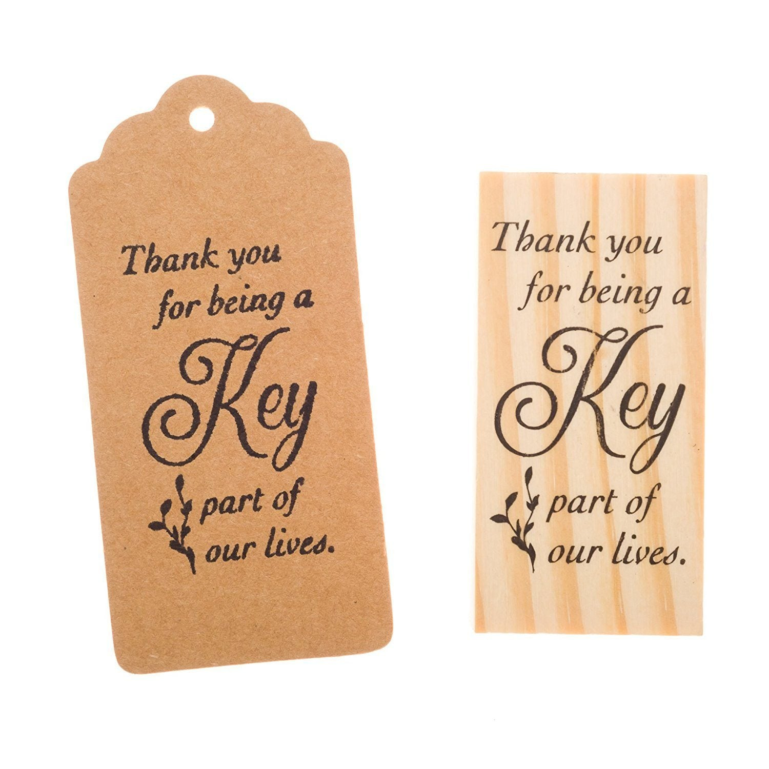 Wooden Rubber Stamp - Thank You Cursive