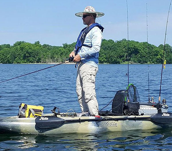 Can You Stand And Fish From A Hobie Outback Kayak?