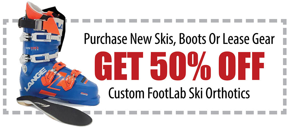 Custom Ski Orthotics Offer With Purchase Of Ski Lease Package