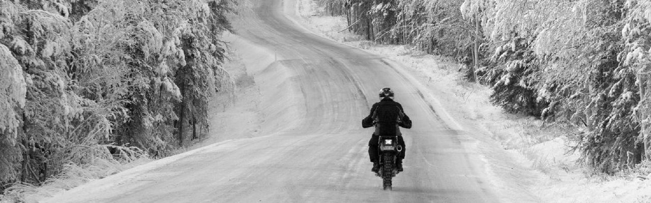 'Extreme' Winter Motorcycle Riding