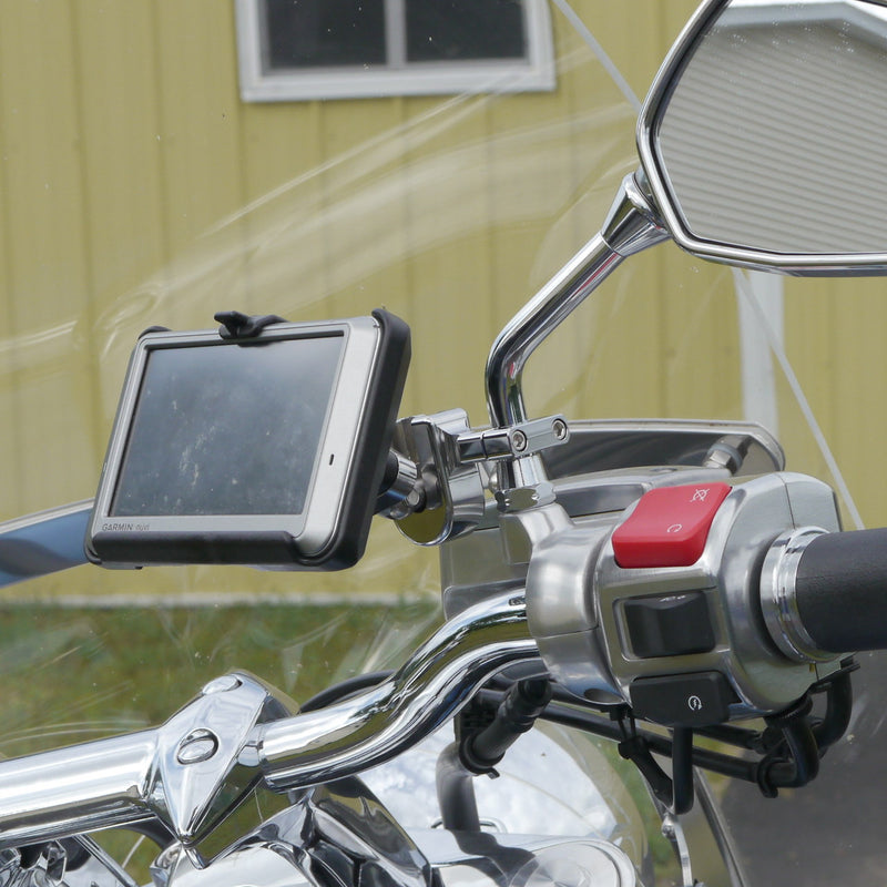 eCaddy Diamond Garmin Nuvi Mount for Mirror Stem (chrome)