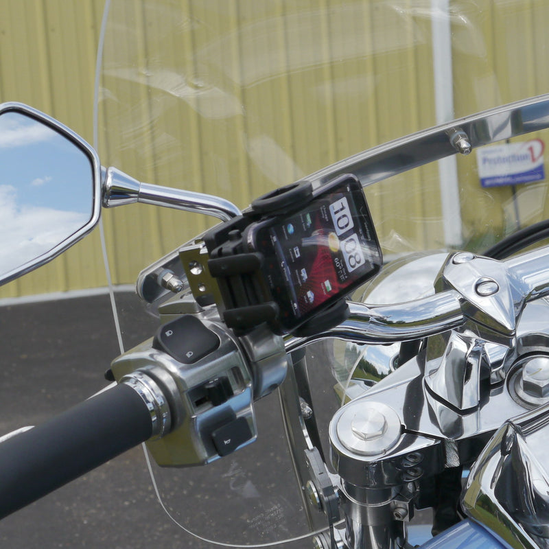 eCaddy Standard Phone Mount for Mirror Stem (Chrome)