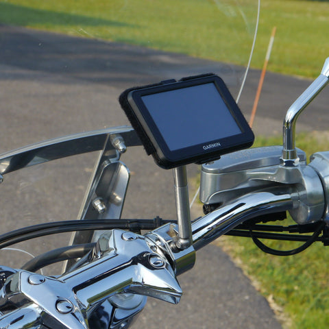 GPS eCaddy Ball Mount w/Extension - Round Bar (Chrome)