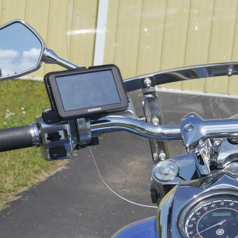 eCaddy Ball GPS Mount - Mirror Stem (Chrome)
