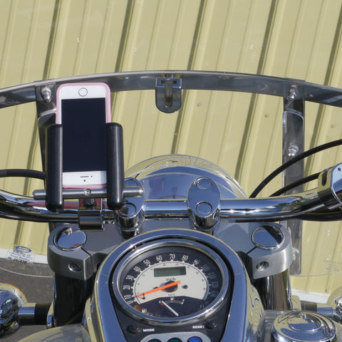 eCaddy Slide Phone Mount (Vertical) - Handlebar, Chrome