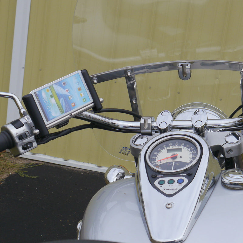 eCaddy Slide Phone & GPS Mount (Horizontal) - Handlebar, Chrome