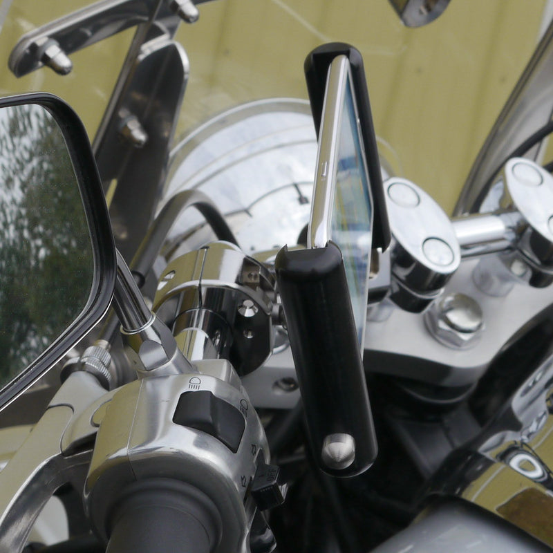 eCaddy Slide Phone & GPS Mount - Handlebar, Chrome