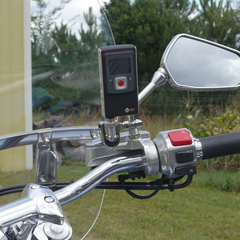 """Shortie"" Camera Mount for Mirror Stem (Chrome)"