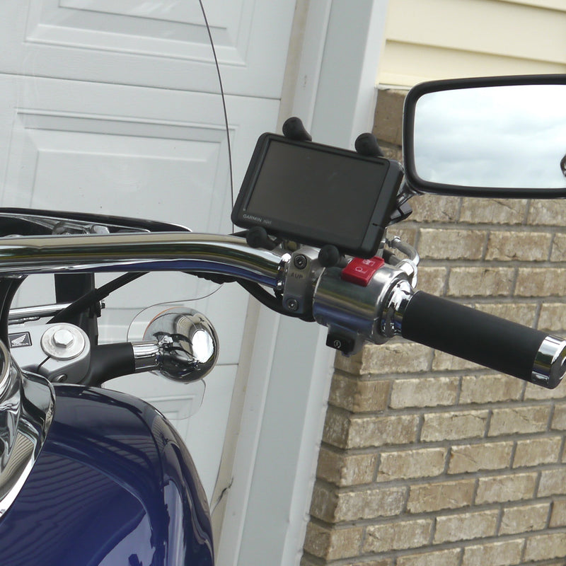 X-Grip Adaptor Mount for Mirror Stem (Chrome)