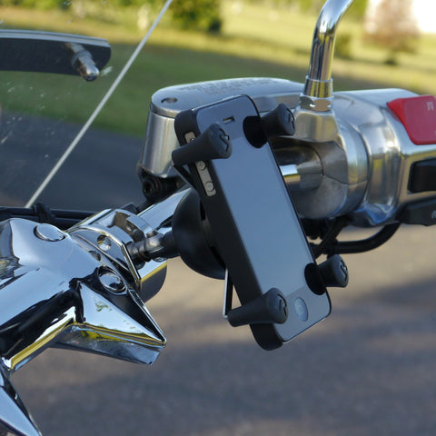 X-Grip Adaptor Mount for Round Bar (Chrome)