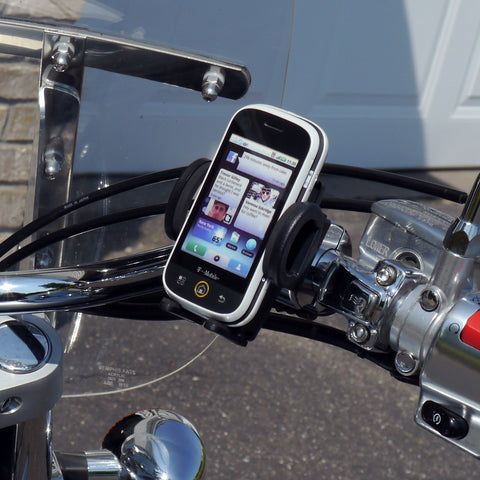 eCaddy Standard Phone Mount - Round Bar (Chrome)
