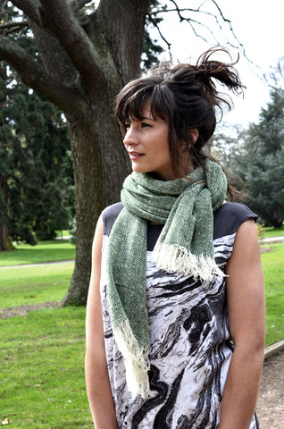 Forest Merino light weight wool scarf