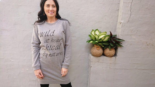 Wild Kicks Organic Dress- 30% OFF