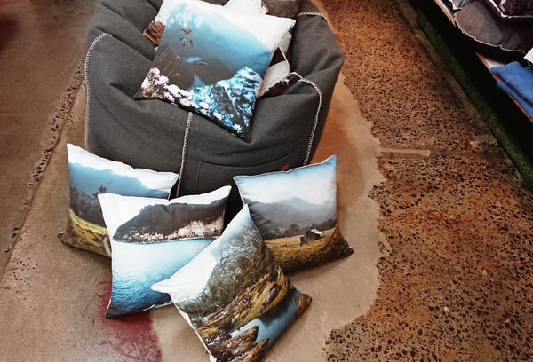 Mount Bishop Printed Linen Cushions