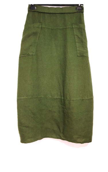 Montaigne Solid Linen Skirt