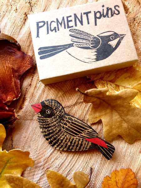 Pigment Bird Brooches