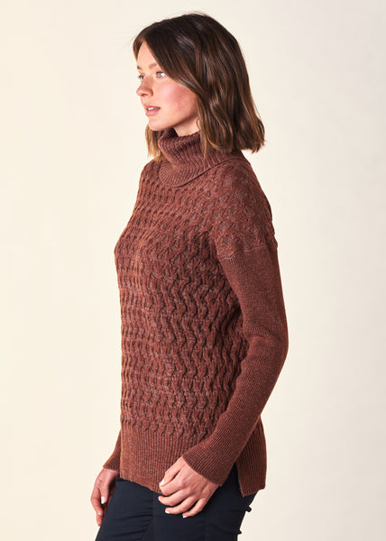 Claudia Cable Plated Merino Wool Jumper-Uimi