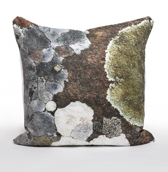 Watercolour Green Lichen Cushions