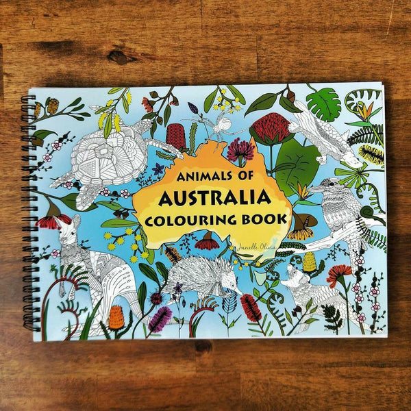 Animals of Australia Colouring Books