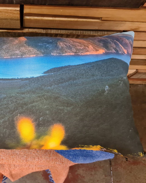 Hazards & Wine Glass Bay Printed Linen Cushion