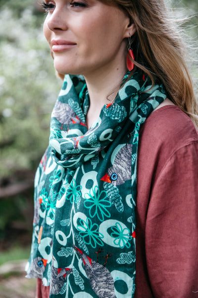 Firetail Forest Organic Cotton Scarf