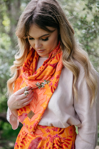 Summer Garden Organic Cotton Scarf
