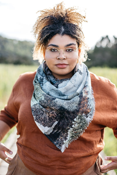NEW Organic Cotton Square Scarf - Lichen