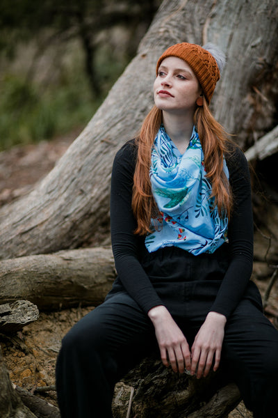 Thylacine Forest- Fashion Square Scarf