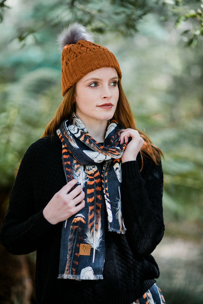 Kookaburra Feather Organic Cotton Scarf