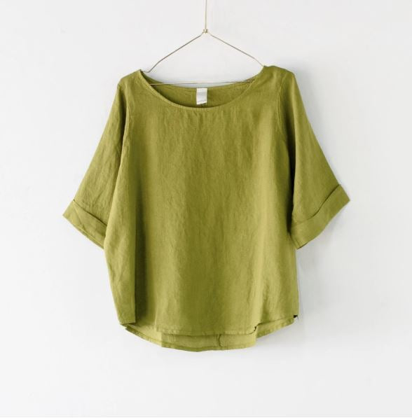 Montaigne Curved Hem Top