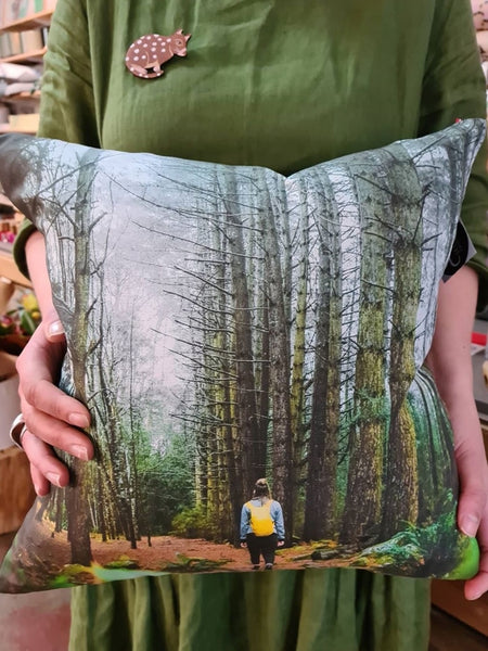 Hollybank Forest Printed Linen Cushion