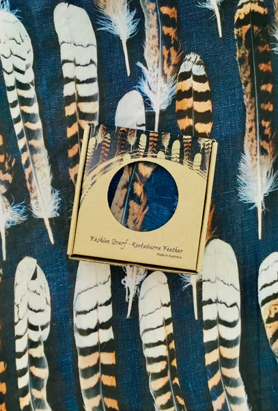 Kookaburra Feather Fashion Square Scarf