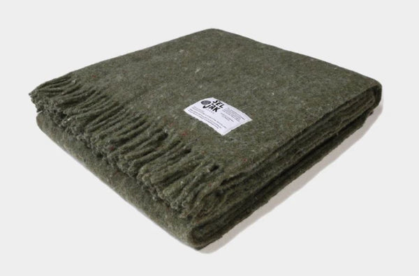 Recycled Wool Blanket -Moss