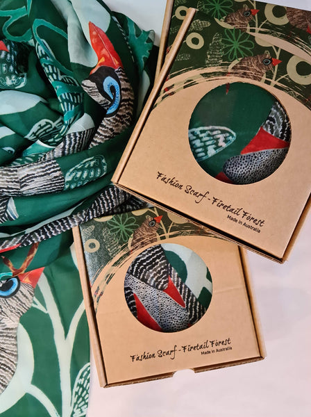 NEW Firetail  Forest- Fashion Square Scarf
