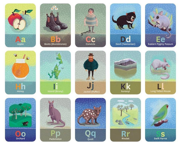 Tasmanian Alphabet Flash Cards