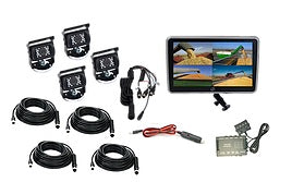 "Vision Works 10"" Touch Screen w/ 4 Wired Cameras & Quad Processor - VW1CT10-Q4"