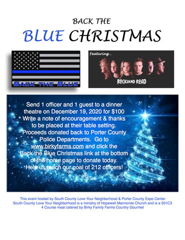 Back The Blue Christmas Tickets