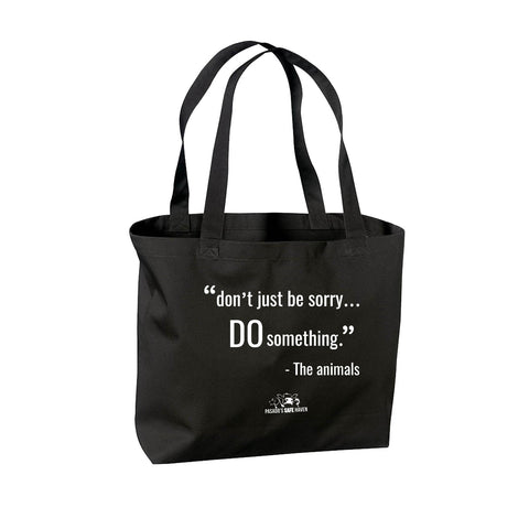 "Tote Bag-Canvas ""Do Something"""