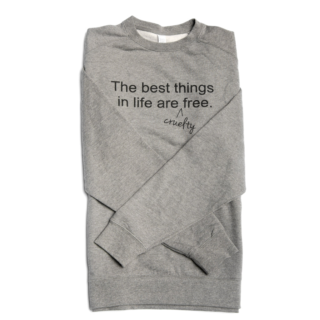 Sweatshirt_The Best Things In Life_Gray