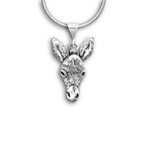 Sterling Silver Pasado the Donkey Pendant Necklace