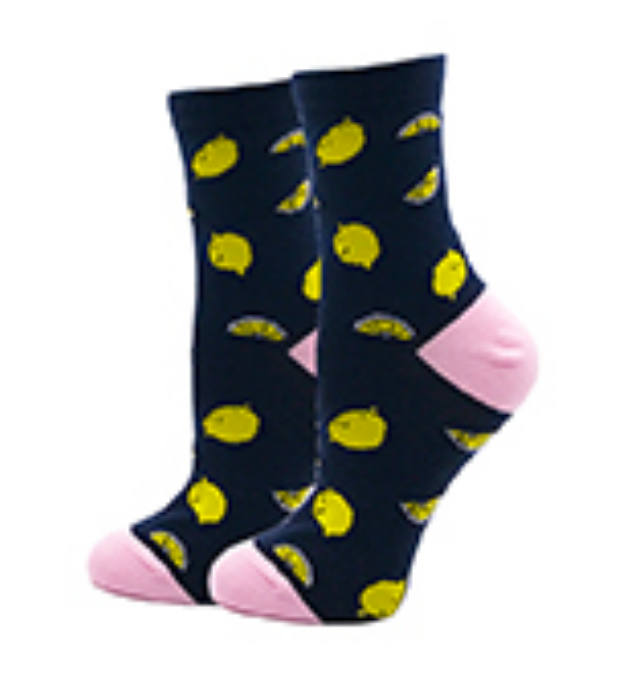 Lemon Crew Socks